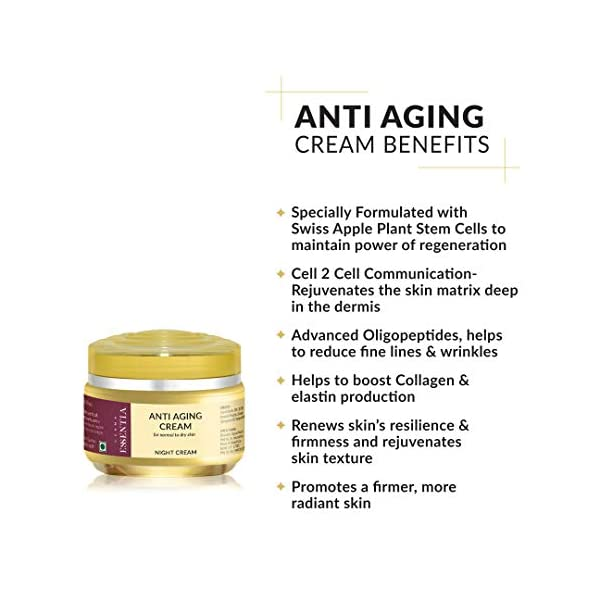 Derma Essentia Anti-Aging & Face Brightening Night Cream With Hyaluronic Acid for Women and Men - 30gm 2021 July ✅ Specially Formulated with Swiss Apple Plant Stem Cells to maintain power of regeneration ✅ Cell 2 Cell Communication- Rejuvenates the skin matrix deep in the dermis ✅ Advanced Oligopeptides, Helps to Reduce Fine Lines & Wrinkles