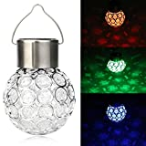 Quaant LED Light,Home Garden LED Lights Waterproof Solar Rotatable Outdoor Garden Camping Hanging LED Round Ball Lights (Multicolor)