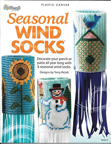 (Plastic Canvas Seasonal Wind Socks by The Needlecraft Shop (Leaflet 848501) 6 Seasonal Wind Sock Designs)