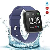 BingoFit Fitness Tracker Legend Smart Watch Activity Tracker 1.3'' IPS Color Screen Health Watch IP67 Waterproof Fitness Watch HR BP Oxygen Sleep Monitor, Pedometer Watch for Women Men Kids(Blue)