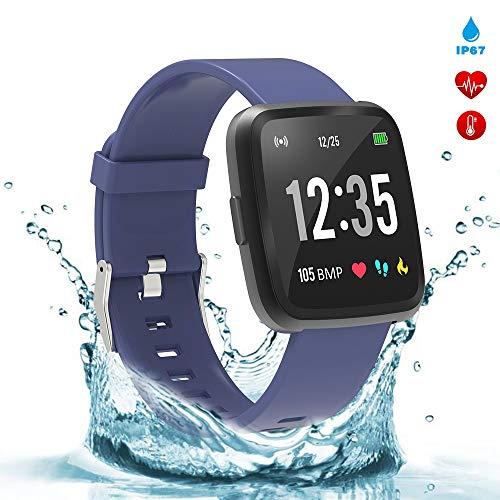 (BingoFit Fitness Tracker Legend Smart Watch Activity Tracker 1.3'' IPS Color Screen Health Watch IP67 Waterproof Fitness Watch HR BP Oxygen Sleep Monitor, Pedometer Watch for Women Men)