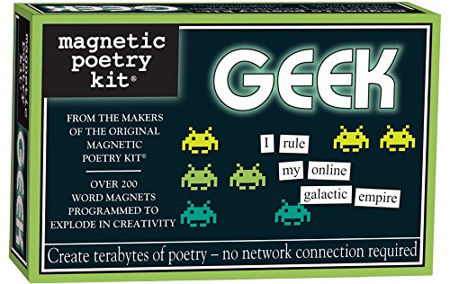 (Magnetic Poetry - Geek Kit - Words for Refrigerator - Write Poems and Letters on the Fridge - Made in the USA)