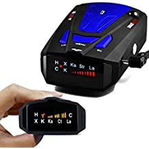 Radar Detector, Voice Alert and Car Speed Alarm System with 360 Degree Detection, Radar Detectors for Cars (Blue Upgrade)