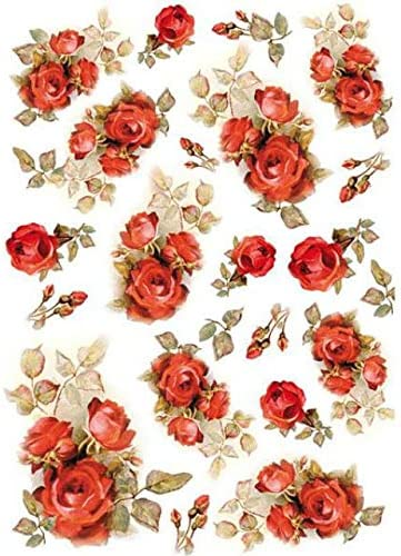 Stamperia Rice Paper Sheet A4-red Roses