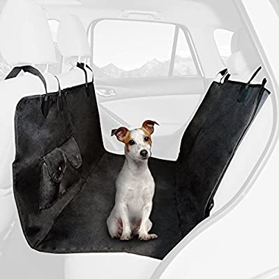 Pet Seat Cover Car Protector- Bench Hammock Backseat Liner, Waterproof Shield for All Weather with Non-Slip Backing Mat for Car/Truck/SUV by PETMAKER