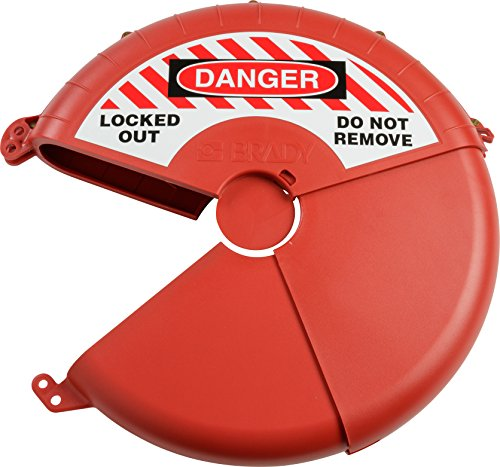 Brady Collapsible Gate Valve Lockout Device - Compatible with Gate Valves 13-18'' in Diameter - Red - 148646 by Brady (Image #1)