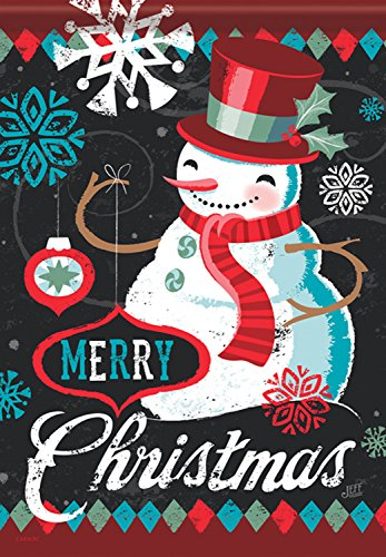 Merry Christmas - Vintage Cool Snowman 28