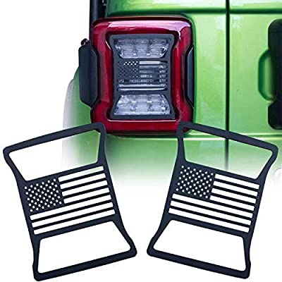 BESKE Rear Taillights Light Guard Tail Light Cover For 2020-2020 Jeep Wrangler JL(US Flag): Automotive