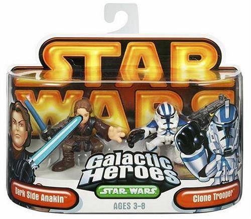 Star Wars Galactic Hero Dark Side Anakin & Clone Trooper (Star Wars Galactic Heroes X Wing Fighter)
