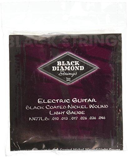 Black Diamond N477LB Black Coated Nickel Wound Electric Guitar Strings, Light