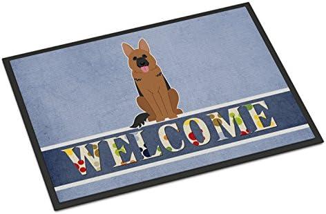 Caroline s Treasures BB5648MAT German Shepherd Welcome Indoor or Outdoor Mat 18×27, 18H X 27W, Multicolor