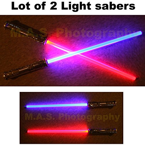 LOT OF 2 STAR WARS FX SOUND LIGHTSABER LIGHT SABER SWORD TOY BEST PRICE!!!, FREE SHIPPING