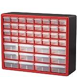Akro-Mils 44 Drawer 10144REDBLK, Plastic Parts