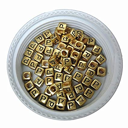 Beads & Jewelry Making Free Shipping Cube Acrylic Letter Beads 500pcs 2600pcs Single Initial C Printing Gold Square Alphabet Jewelry Spacer Beads Beads