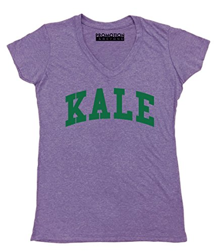 - Promotion & Beyond P&B P&B Kale G. Women's V-Neck, S, Heather Purple
