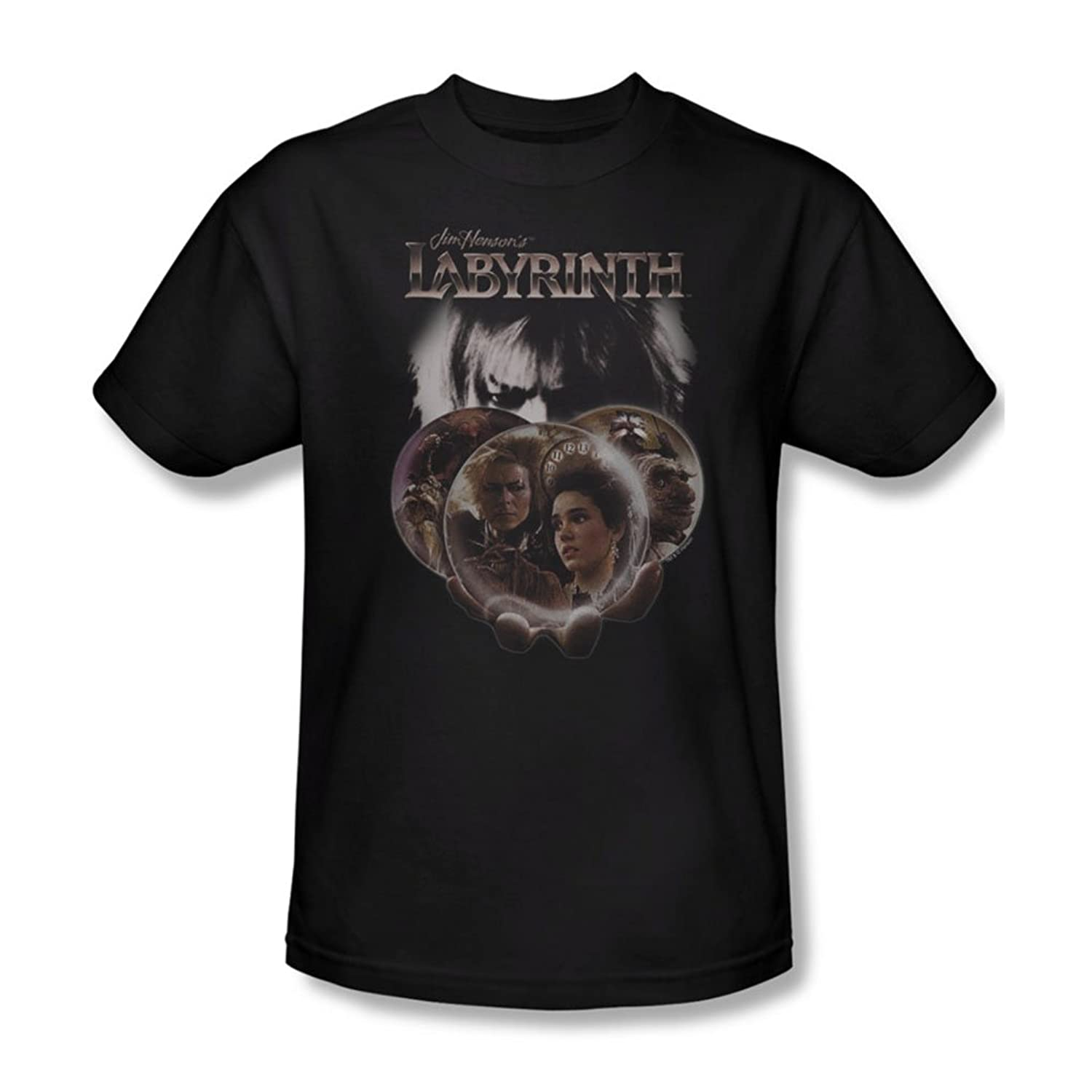 Labyrinth - Mens Globes T-Shirt In Black