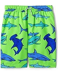 Boys Printed Swim Trunks