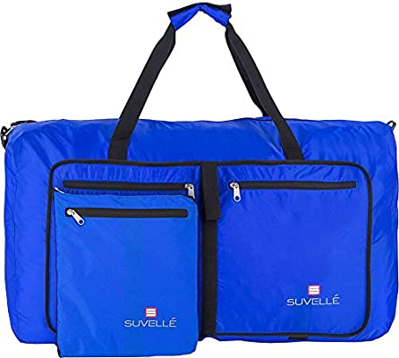 SUVELL/É Foldable Large Duffel Bag Lightweight 29 Water Resistant Travel Packable Duffle Bag for Men and Women