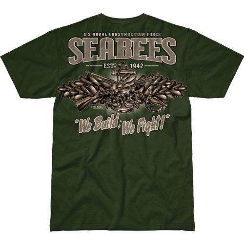7.62 Design US Navy Seabees 'Vintage' Men's Battlespace T-Shirt 2X