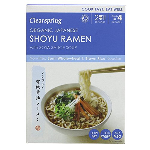 Clearspring Organic Japanese Shoyu Ramen Noodles with Soya Sauce Soup 170g - Pack of 2