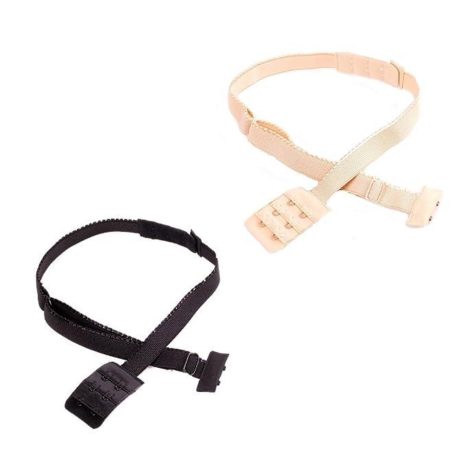 Low Back Verstellbaren Bh Band Haken Konverter Extender Backless Schwarz Weiß Khaki Bekleidung Zubehör Damen-accessoires