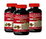 Mood Booster Supplements - Hemp Seed Oil for Pain Relief - Hemp Oil for Pain Relief Capsules - 3 Bottles 360 Liquid Capsules