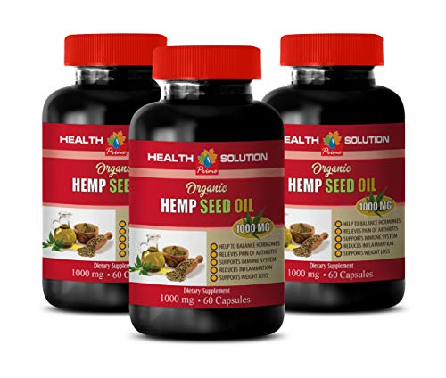Stress Relief Pills for Women - Hemp Seed Oil Organic 1000 mg - Dietary Supplement - Hemp Oil Extract Organic - 3 Bottles 360 Liquid Capsules by Health Solution Prime (Image #7)