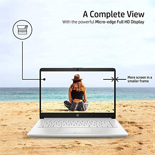 HP 14 10th Gen Intel Core i3 Processor 14-inch FHD Laptop (4GB/1TB HDD/Windows 10 Home/MS Office/Natural Silver/1.47Kg), 14s-cf3006tu