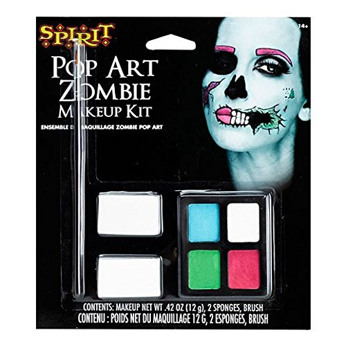 Fancy Face Paint Color Halloween Pop Art Zombie Makeup (Pop Art Zombie)