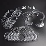 Standard Dental Mouth Opener (Set of 20 Pieces) - Cheek and Lip Retractor - Clear Medium Size