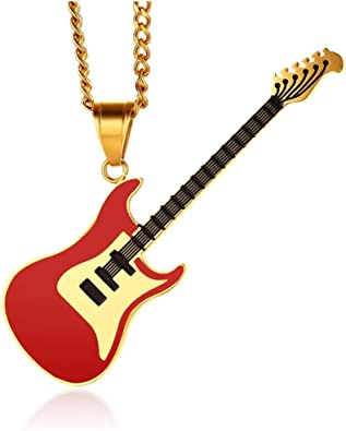 BOBIJOO JEWELRY - Gran Collar De La Guitarra Eléctrica Rock De ...