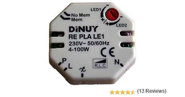 Dinuy RE.PLA.LE1 - Regulador lámparas led 230v/12v: Amazon.es: Bricolaje y herramientas