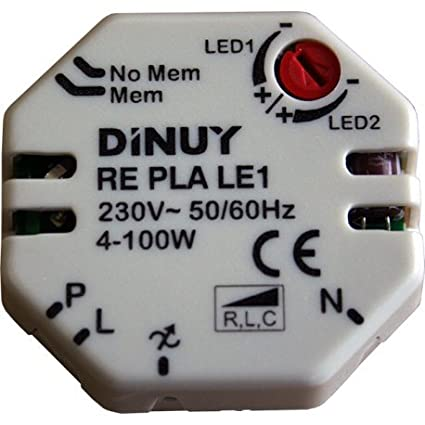 Dinuy RE.PLA.LE1 - Regulador lámparas led 230v/12v