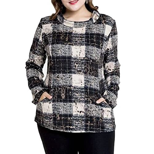 Domple Womens Plaid Cloak High Neck Pullover Wool-Blend Overcoat Coat