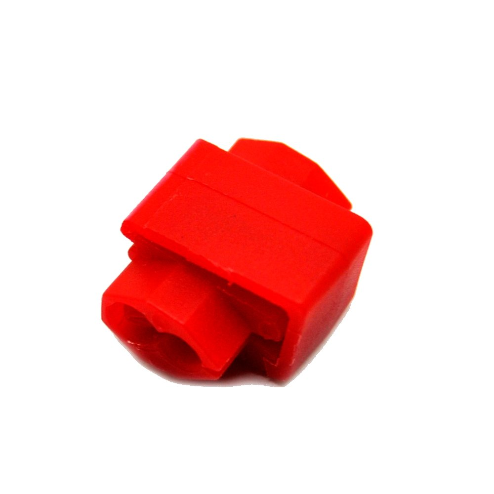 Red 0.75x1.26in. WxL 10A Max 18-14 AWG MUYI 100 Pcs Red Electrical IDC 0.5-1.0mm/² Wire Connector Double Run or Tap 22-18 AWG Current Flame Retardant One Pack Run Tap