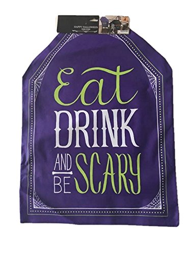 Halloween Eat Drink and Be Scary Chair Covers (set of two) purple