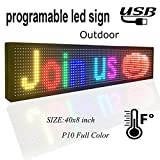 programmable LED sign 40' x 8' outdoor P10 RGB full color SMD led scrolling display message board Perfect solution for advertising