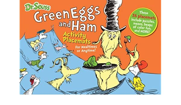 Dr Seuss Green Eggs And Ham Activity Placemats For Mealtimes Or Anytime Books By Enterprises 2013 11 01 Amazon