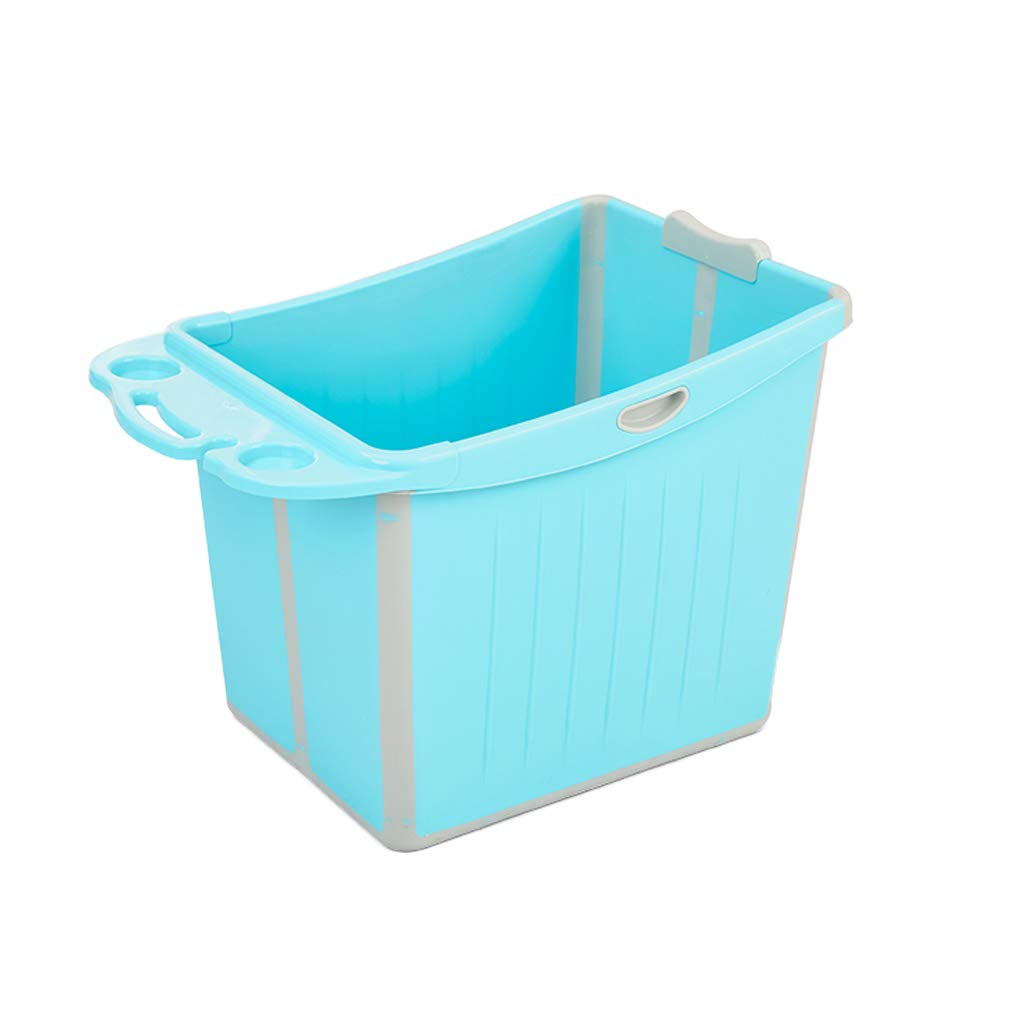 赤ちゃん折りたたみバスタブ子供用スイミングプールは、携帯用の子供のプラスチック製の浴槽の母助手用の浴槽の非膨脹可能な浴槽の洗濯槽に座ることができます B07PJS4JXZ blue3 75*48*48CM