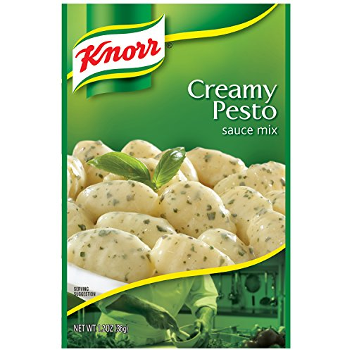 Knorr Pasta Sauce Mix Pasta Sauce Mix, Creamy Pesto 1.2 oz (Pack of 12) (Recipe Pesto Chicken Pasta)