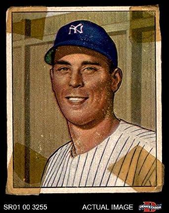 1950 Bowman 100 Vic Raschi New York Yankees Baseball Card Deans Cards 15