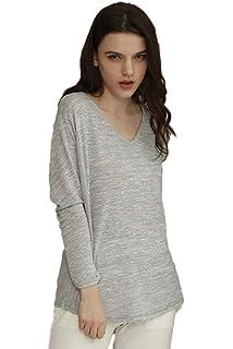 fdf93f0ef7 Damen Oberteile Mode Nachtwäsche Langarm V-Ausschnitt Freizeit Schlafanzug  Gemütlich T-Shirts Schöne