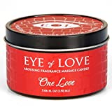 One Love By Eye of Love Best Pheromone Massage Oil Candle, Shea Butter to Attract Men, 5 fl oz. 150 ml