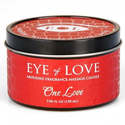 One Love par oeil d'amour meilleur phéromone Massage huile bougie, beurre de karité pour attirer les hommes, 5 oz fl 150 ml