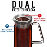 Airtight Cold Brew Coffee Maker - 1 Quart Sealing Brewed Iced Coffee Maker - Glass Pitcher Cold Brewer System with Removable Filter