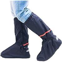 Impermeable Cubierta del Zapato - Adulto Reutilizable Botas de Lluvia Hombre Mujer Calzado Perfecto para Tormenta de Lluvia Tormenta de Nieve Negro