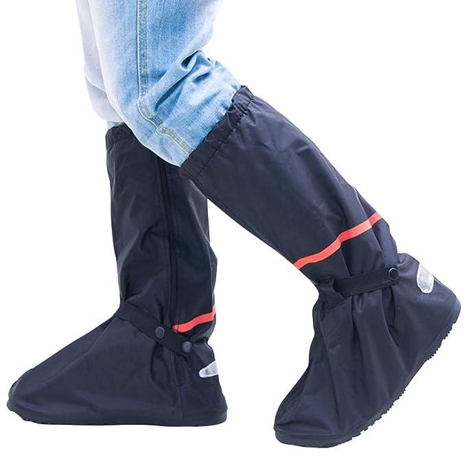 0aa3a263dd5 Zilee Cubrezapatillas Impermeable Botas de Agua - Cubiertas de Zapatos  Antideslizante Lluvia Botas Reutilizables Calzado Fundas de Lluvia para  Zapatos ...