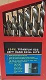 15p LEFT Hand Drill Bit Set Titanium Handed Stud Remover Screw Extractor Reverse by Drill Bit Set