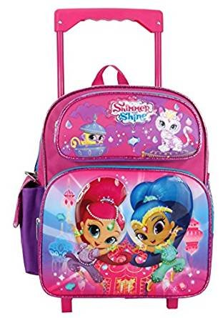 ff14fa6e8187 Image Unavailable. Image not available for. Color  Nickelodeon Shimmer and Shine  Toddler 12 quot  Rolling backpack