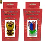 Birthday Candle 2 Pack Neat Exciting Candle 1 Gold and 1 Red/White/Blue